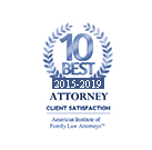 American Institute of  Family Law Attorneys - 10 Best - Client Satisfaction Award (2014)
